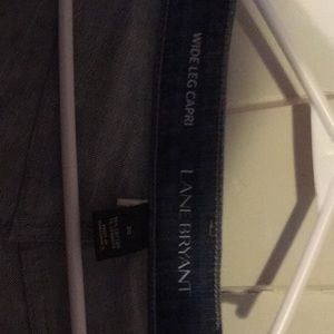 Lane Bryant Jean capris wide leg.  Never worn.